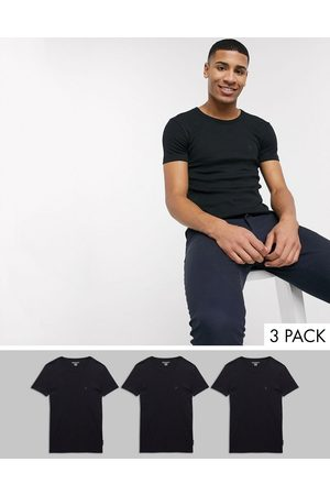 French Connection 3 Pack Lounge T-Shirt-Black