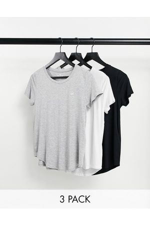 Hollister 3 pack relaxed crew neck t-shirt in multi