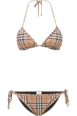 Burberry Check Printed Stretch Lycra Bikini Set