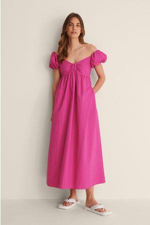 NA-KD Naiset Midimekot - Orgaaninen Off Shoulder -midimekko - Pink