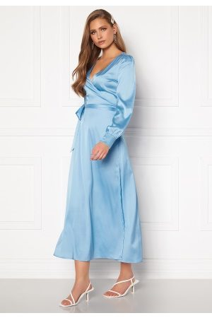 Chiara Forthi Ezra Wrap Maxi Dress Dusty blue 44