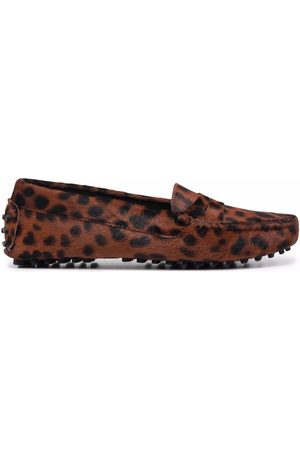 Scarosso Naiset Loaferit - Ashley leopard-print loafers