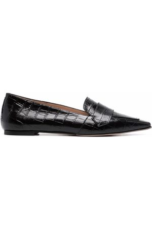 Scarosso Naiset Loaferit - Croc-effect pointed loafers