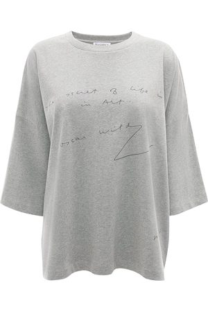 J.W.Anderson T-paidat - Oscar Wilde quote print T-shirt