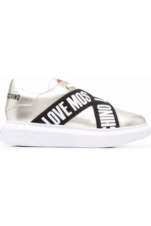 Love Moschino Naiset Loaferit - Logo tape lace-up sneakers