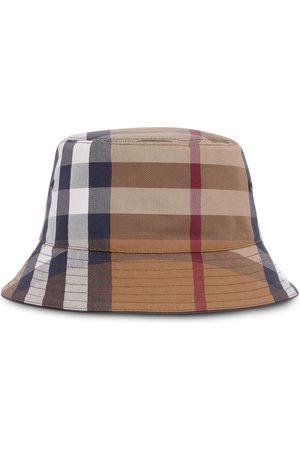 Burberry Miehet Hatut - Check cotton-canvas bucket hat