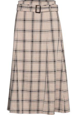 Gestuz Naiset Midihameet - Chloegz Skirt Ze3 19 Polvipituinen Hame Beige