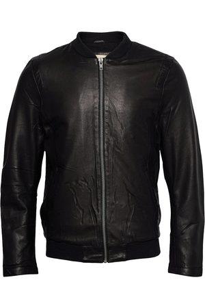 Revolution Miehet Nahkatakit - Sheep Leather Jacket With Rib And Shoulder Detail Nahkatakki