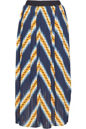 Just Female Line Skirt Polvipituinen Hame Sininen