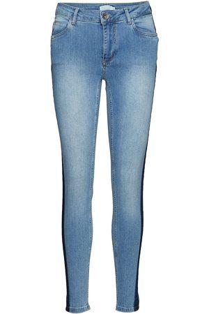 Coster Copenhagen Naiset Slim Fit - Jeans Slim 7/8 W. T D Stripe Tiukat Farkut