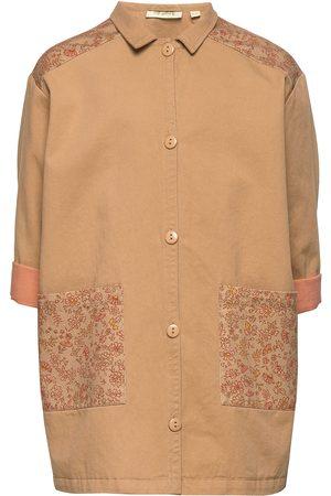 Soft Gallery Frency Coat Outerwear Jackets & Coats Denim & Corduroy Ruskea