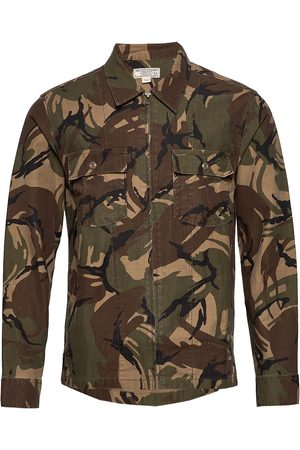 J.Crew Wb Camo Printed Seaside Twill Zip Jacket Paita Rento Casual Vihreä