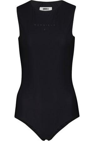 MM6 MAISON MARGIELA Naiset Bodyt - Logo stretch-jersey bodysuit