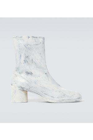 Maison Margiela Tabi leather bianchetto boots