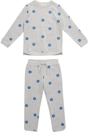 Stella McCartney Floral cotton sweatshirt and pants set