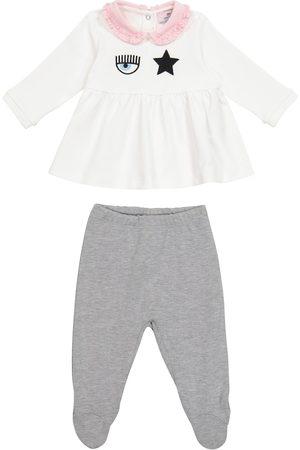 MONNALISA X Chiara Ferragni Baby Eyestar cotton blouse and pants set