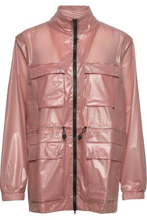 Rains Ultralight Zip Off Parka Outerwear Rainwear Rain Coats Vaaleanpunainen