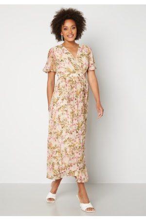 VERO MODA Wonda S/S Wrap Maxi Dress Birch AOP: Siga XS