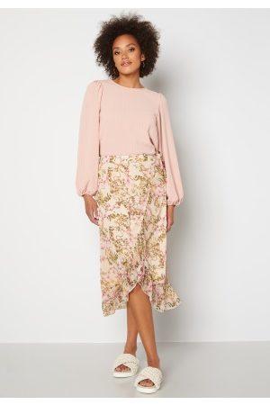 VERO MODA Wonda H/W Wrap Skirt Birch AOP: Siga M