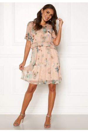 Happy Holly Teodora occasion dress Dusty pink / Patterned 36/38
