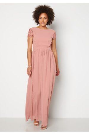 Moments New York Naiset Maksimekot - Camellia Chiffon Gown Dark old rose 36