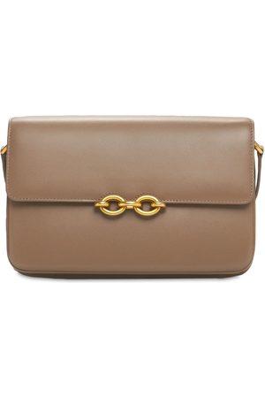 Saint Laurent Le Maillon Smooth Leather Shoulder Bag