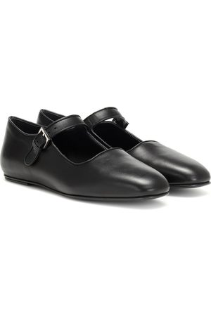 The Row Ava leather ballet flats