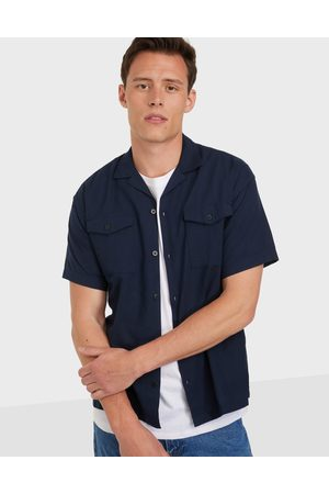 JACK & JONES Miehet Bleiserit - Jprblasummer Pocket Resort Shirt S Kauluspaidat Navy Blazer Relax Fit