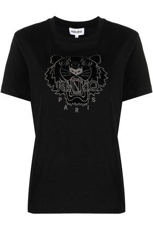 Kenzo Naiset T-paidat - Tiger logo cotton T-shirt