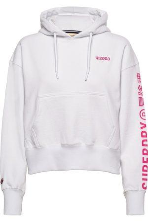Superdry Naiset Collegepaidat - Corporate Logo Brights Hood Huppari Vaaleanpunainen