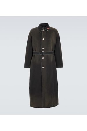 RAF SIMONS Miehet Trenssit - Belted cotton trench coat