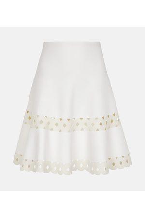 Alaïa Edition 2007 cutout wool-blend miniskirt