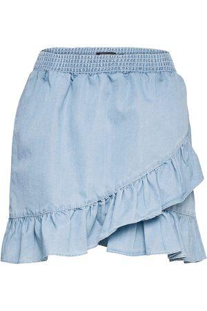 French Connection Aves Chambray Mini Skirt Lyhyt Hame Sininen