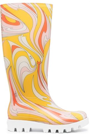 Emilio Pucci Abstract-print rain boots