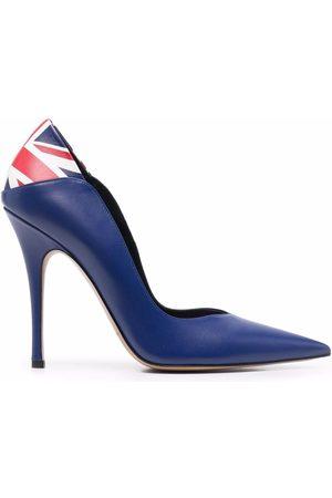 Aleksander Siradekian Naiset Avokkaat - UK Flag pointed-toe pumps