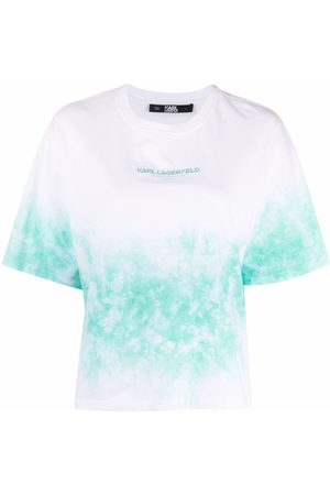 Karl Lagerfeld Naiset T-paidat - Tie-dye logo-print T-shirt