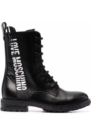 Love Moschino Naiset Nilkkurit - Logo-tape ankle boots