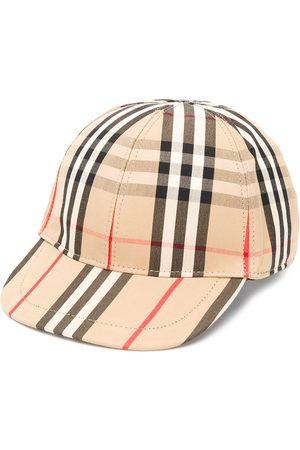 Burberry Plaid print baseball cap