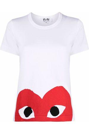 Comme des Garçons Heart logo-print T-shirt