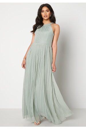 Moments New York Naiset Iltapuvut - Linnea Pleated Gown Jade-green 42