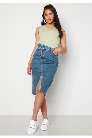 Trendyol Naiset Midihameet - Denim Midi Skirt Blue 38