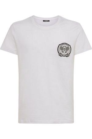 Balmain Badge Organic Cotton Jersey T-shirt