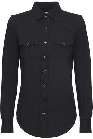 Saint Laurent Cotton Denim Classic Western Shirt