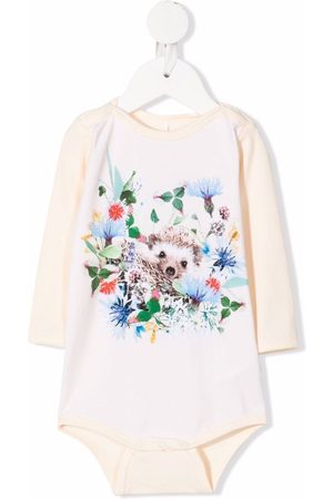 Molo Kids Mini Hedgehog-print stretch-organic cotton body