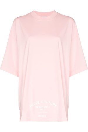Vetements Couture-logo print T-shirt