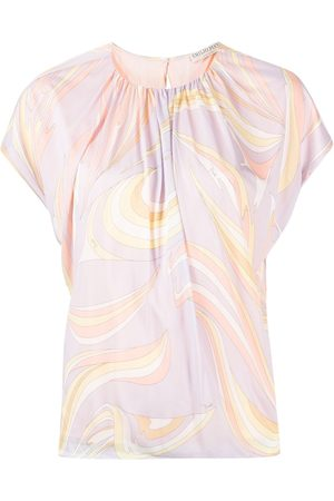 Emilio Pucci Naiset T-paidat - Abstract-print T-shirt
