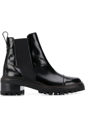 See by Chloé Naiset Nilkkurit - Leather chelsea boots