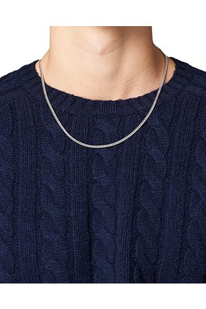 TOM WOOD Curb Chain M Necklace Silver