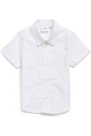 HUGO BOSS Kids' short-sleeved shirt in cotton with embroidered logo