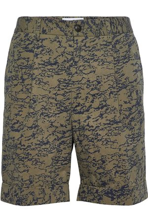 Les Deux Preston Aop Cotton Shorts Shorts Chinos Shorts